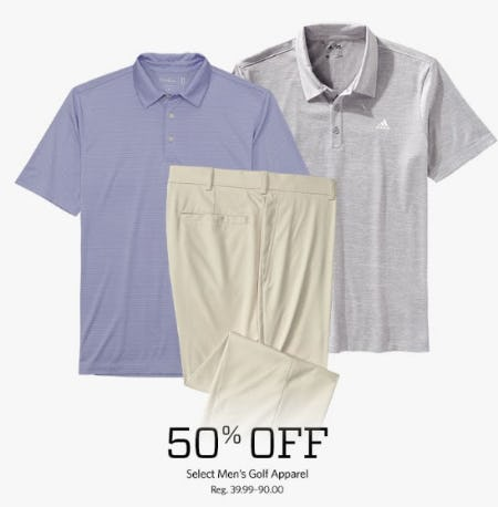 50% Off Select Men's Golf Apparel from Golf Galaxy