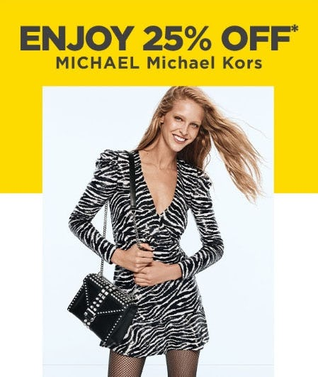 25% Off Michael Michael Kors