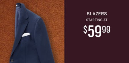 Blazers Starting at $59.99 from Men's Wearhouse
