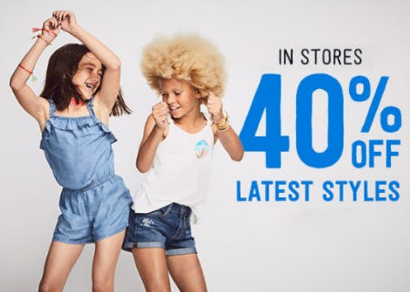 40% Off Latest Styles