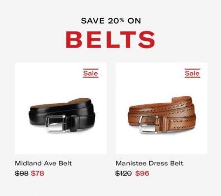 20% Off Belts from Allen Edmonds