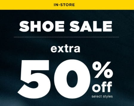 Extra 50% Off Shoe Sale