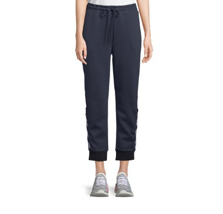 Nylora Bowery Jogger Track Pants with Lace-Up Detail from Neiman Marcus