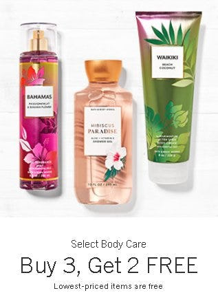 Select Body Care Buy 3, Get 2 Free
