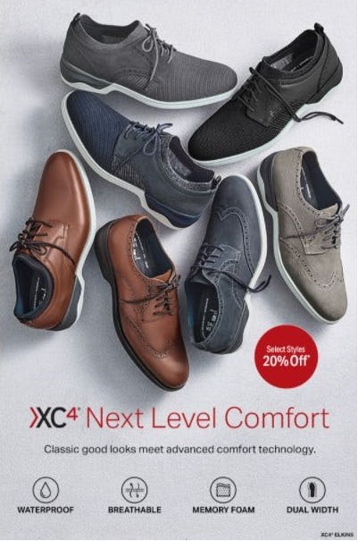 20% Off XC4 Next Level Comfort from Johnston & Murphy