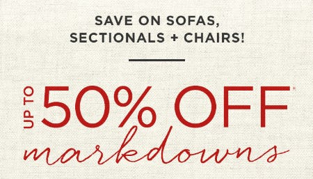 Up to 50% Off Markdowns from West Elm