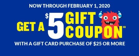 Get a $5 Gift Coupon from The Children's Place
