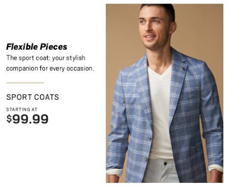Sport Coats Starting at $99.99 from Men's Wearhouse