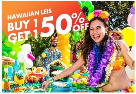 BOGO 50% Off Hawaiian Leis from Party City