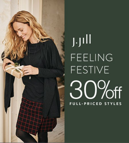 30% off* Full Priced Styles from J.Jill