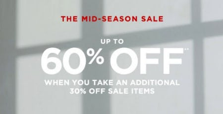 The Mid-Season Sale from Club Monaco