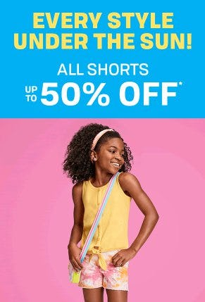 All Shorts up to 50% Off from The Children's Place