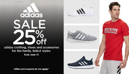 25% Off Adidas Sale from Kohl's