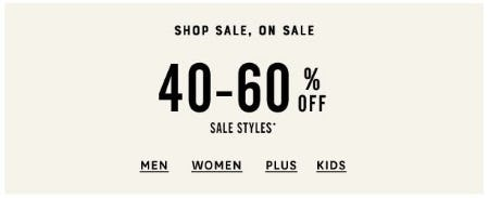 40–60% Off Sale Styles