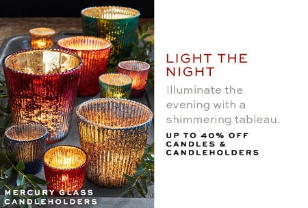 Up to 40% Off Candles & Candleholders from Pottery Barn
