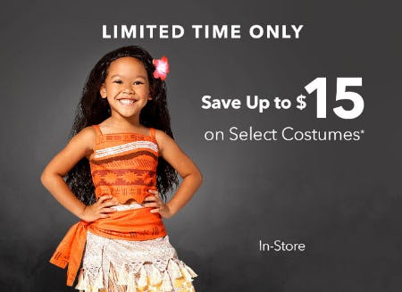 Up to $15 Off Select Costumes