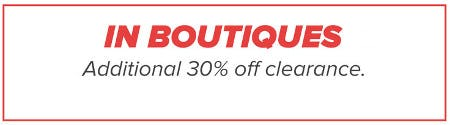 Additional 30% Off Clearance from francesca's