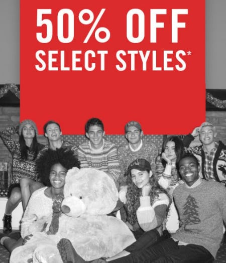 50% Off Select Styles