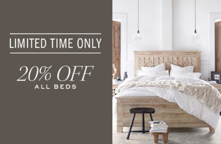 20% Off All Beds from Pottery Barn