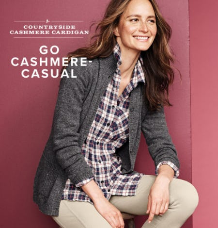Country Side Cashmere Cardigan from Orvis