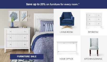 Save Up to 25% Furniture Sale from Target