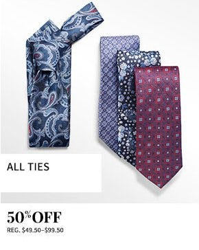 All Ties 50% Off from Jos. A. Bank