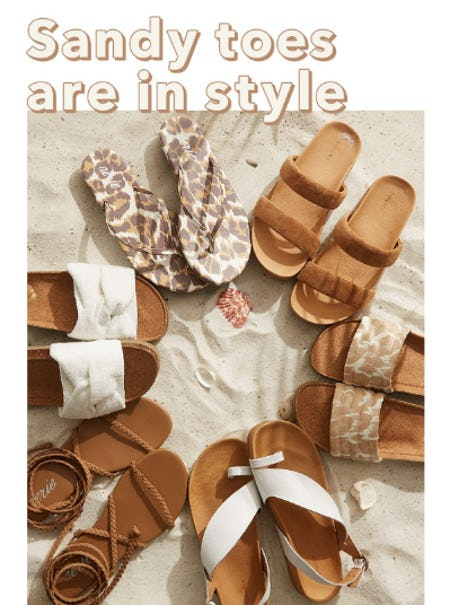 Sandy Toes Are in Style from Aerie