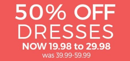 50% Off Dresses from Stein Mart