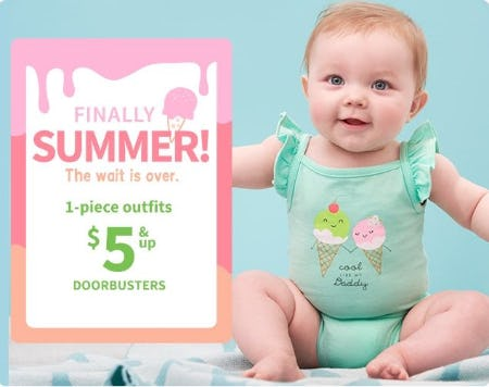 1-Piece Outfits $5 & Up Doorbusters from Carter's