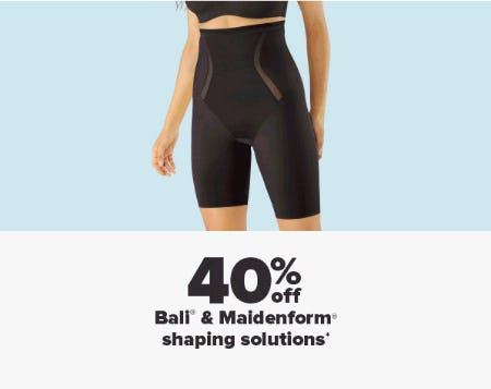 40% Off Bali & Maidenform Shaping Solutions from Belk