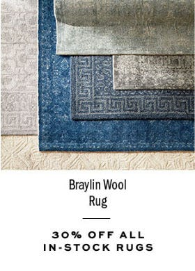 30% Off All In-Stock Rugs from Pottery Barn