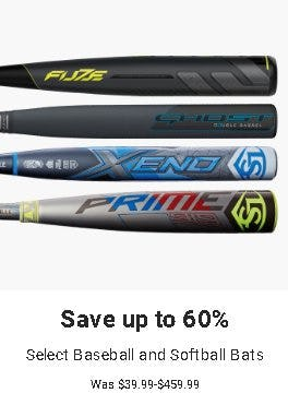 Save up to 60% on Select Baseball and Softball Bats from Dick's Sporting Goods