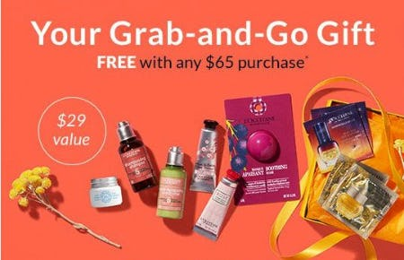 Your Grab-and-Go Gift Free With Any $65 Purchase from L'Occitane