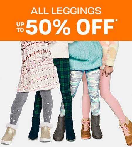 All Leggings Up to 50% Off from The Children's Place
