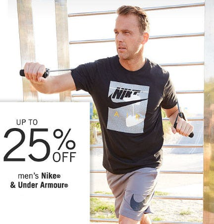 Up to 25% Off Men's Nike & Under Armour from Belk