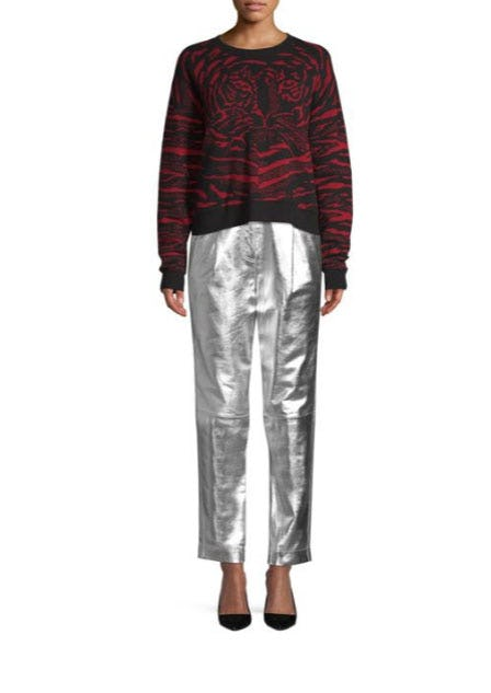 Robert Rodriguez Metallic Leather Trousers from Saks Fifth Avenue