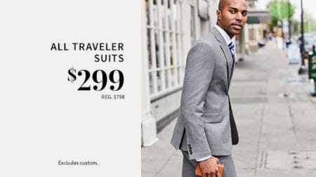 All Traveler Suits $299 from Jos. A. Bank