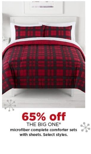 65% Off THE BIG ONE® Microfiber Complete Comforter Sets with Sheets from Kohl's
