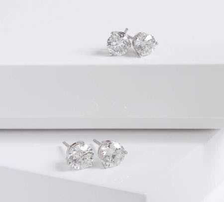 Diamond Stud Earrings Collection