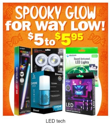 $5 to $5.95 LED Tech from Five Below