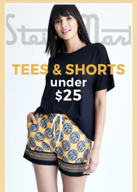 Tees & Shorts Under $25 from Stein Mart