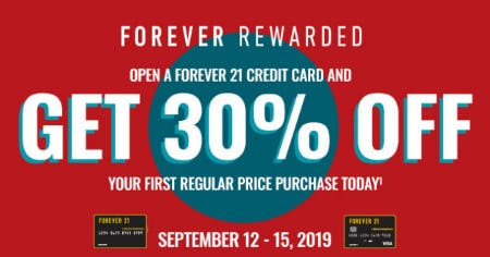 Open a Forever 21 Credit Card and Get 30% Off from Forever 21