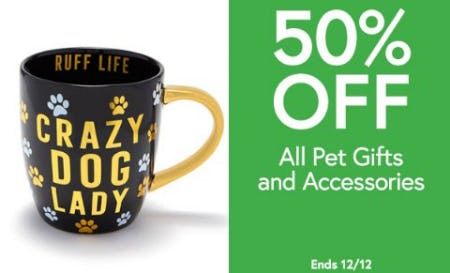 50% Off All Pet Gifts and Accessories from Charming Charlie