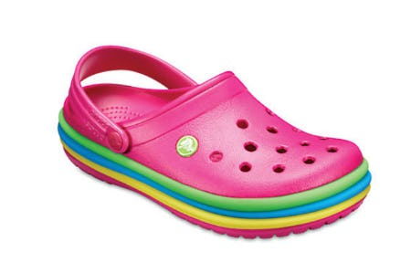 Crocband Rainbow Band Clogs from Crocs