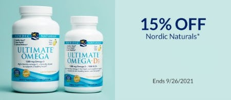 15% Off Nordic Naturals from The Vitamin Shoppe