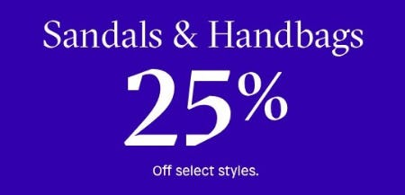 Sandals & Handbags 25% Off from ALDO Shoes