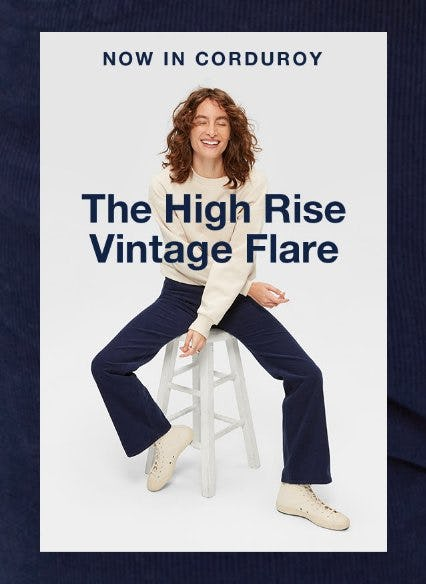 Now in Corduroy: The High Rise Vintage Flare from Gap