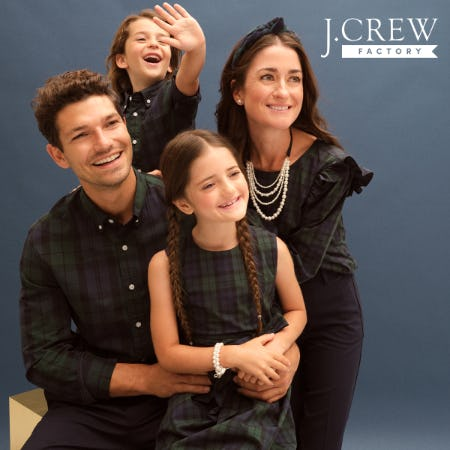 UP TO 50% OFF STOREWIDE + EXTRA 50% OFF CLEARANCE STYLES! from J.Crew Factory