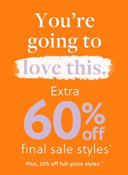 Extra 60% Off Sale from J.Crew