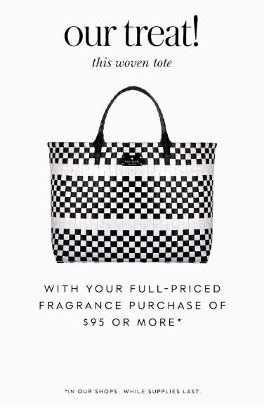 Free Woven Tote with Fragrance Purchase